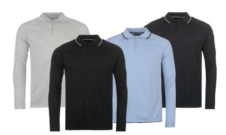 1x oder 2x Pierre Cardin gestricktes Polo-Longshirt in der Farbe nach Wahl (Stuttgart)