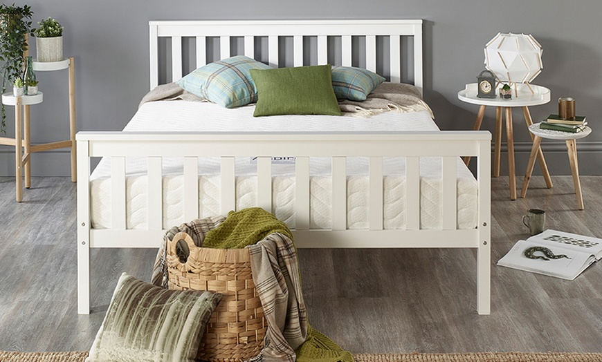 Atlantic Solid Wood White Shaker Bed Frame from £119.99 (59% OFF)