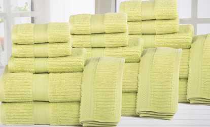 Attractive Shop Groupon Quick Dry Zero Twist Plush Cotton Bath Towel Set (18 Piece)