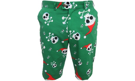 LoudMouth Jingle Bones Men's Flat-Front Golf Shorts 90e77476-7944-11e7-baaa-00259069d7cc
