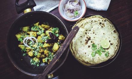 Menú degustación indio con entrante, principal y bebida en Papadam Indian Restaurant (hasta 59% de descuento)