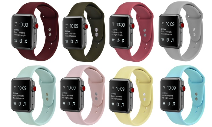 Silicone Sport Replacement Band For Apple Watch Series 1 2 3 4 5 Groupon