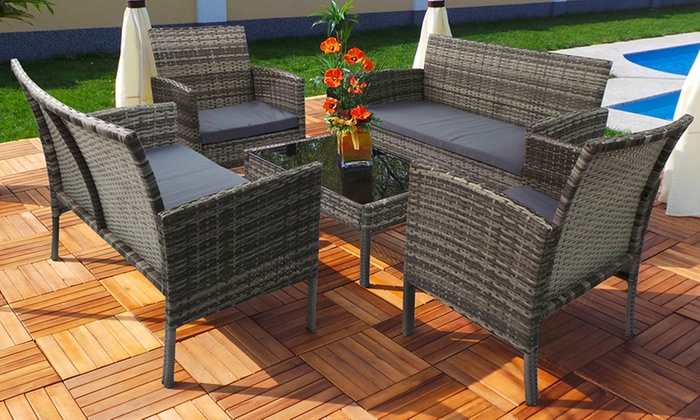 XL or XXL Swing & Harmony Rattan-Effect Garden Furniture Lounge Set in Choice of Colour