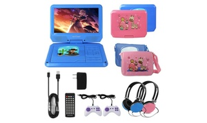 """Kocaso 9"""" Kids' Portable DVD Player Bundle"""
