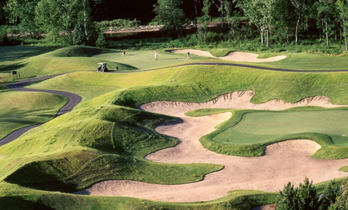 18-Hole Golf Round with Cart and Beer for Two or Four at Golf Manitou (Up to 68% Off)