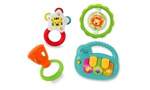 Coffret 4 hochets instruments bébé
