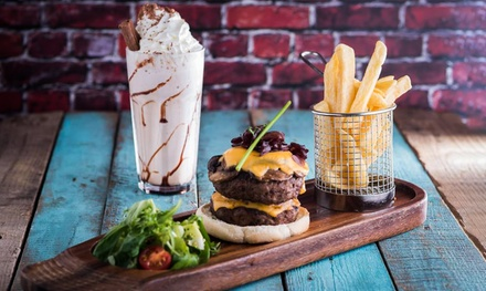 Burger, All-You-Can-Eat Fries and Milkshake for Two or Four at Grill & Shake