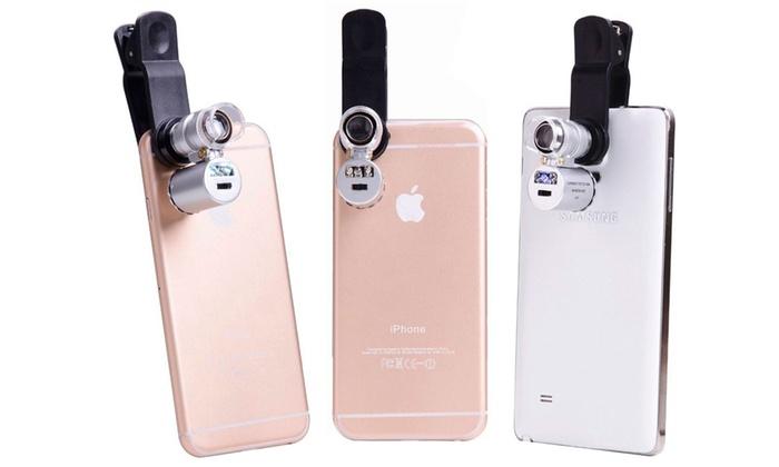 Microscopio per smartphone