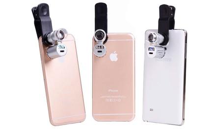 1 o 2 microscopios de 60 Aumentos con luz UV para Smartphone