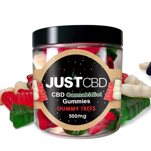JustCBD CBD Holiday Gummies 250mg, 500mg, 1000mg