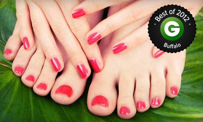 KaLu Salon & Day Spa - Amherst: Spa or Stress-Fix Mani-Pedi or a Gel Manicure with Spa Pedicure at KaLu Salon & Day Spa (Up to 55% Off)