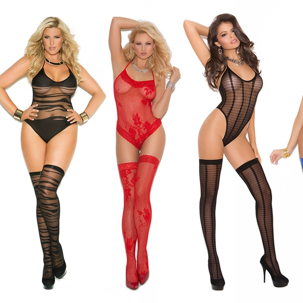 98aee787ef8 Elegant Moments Teddy and Thigh High Lingerie Sets (2-Piece)