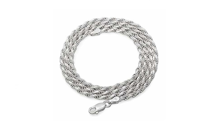 sterling chains necklace figaro chain solid silver sn