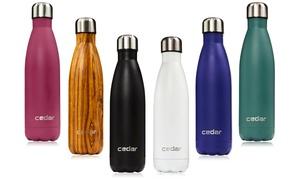 Cedar Double-Insulated 17-Oz. Stainless Steel Sports Water Bottle