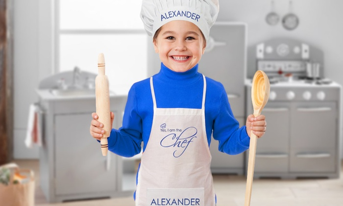Excellent Kids' Custom Chef Hats and Apron - Monogram Online | Groupon LQ88