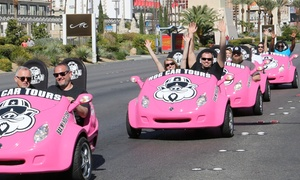 Hog Car Tours Las Vegas: Two-Person Scootercar Day or Night Tour with Optional Zipline Ride from Hog Car Tours Las Vegas (Up to 44% Off)