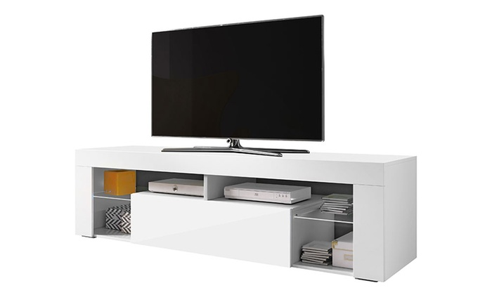 meuble tv hugo ii led groupon shopping. Black Bedroom Furniture Sets. Home Design Ideas
