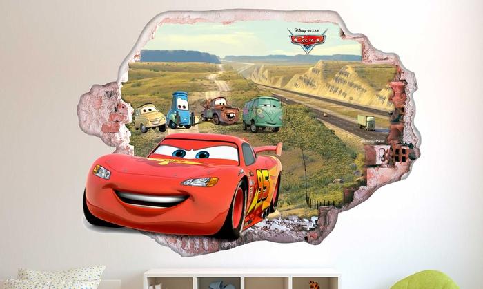 Wandsticker disney cars 3d effekt groupon goods - Cars wandsticker ...