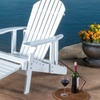 Kayleigh Wood Adirondack Chair with Footrest