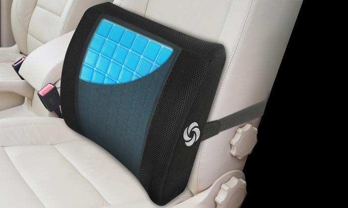 Samsonite Lumbar Support Memory Foam And Cooling Gel Car Seat Cushion