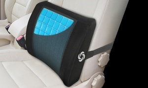 Samsonite Lumbar Support Memory Foam and Cooling Gel Car Seat Cushion