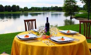 Lago La Sirenetta: Menu di terra e di mare con calice di vino per 2 o 4 persone al ristorante Lago La Sirenetta (sconto fino a 36%)