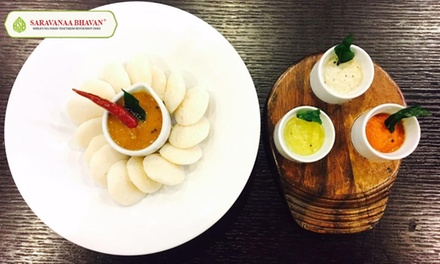 TwoCourse Vegetarian Indian Meal with a Side for Two or Four at Saravana Bhavan, Leicester Square and Croydon