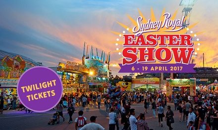 Sydney Royal Easter Show: Twilight Tickets after 4pm at Sydney Olympic Park, 619 April
