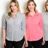 Women's Plus-Size Button-Down Shirts