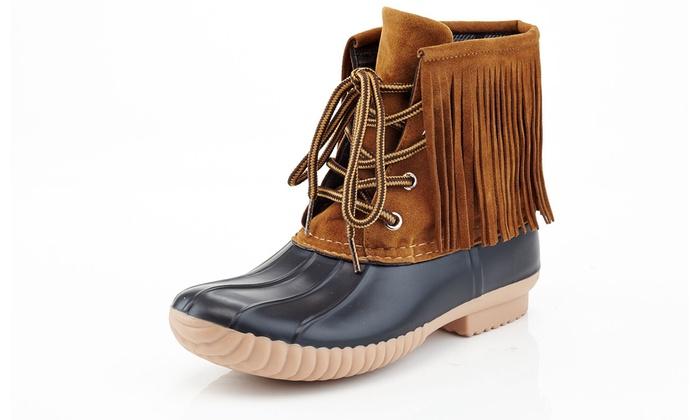 Henry Ferrera Women's Fringe Boots (Size 8) | Groupon