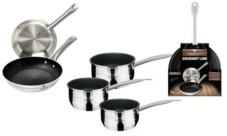 Set di 2 o 3 pezzi Blaumann Gourmet Line in acciaio inossidabile e rivestimento antiaderente