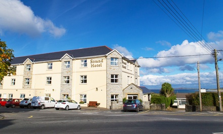 Ballyliffin: 1 or 2 Nights for Two with Breakfast and Option for Dinner, Scones and Tea or Coffee at The Strand Hotel