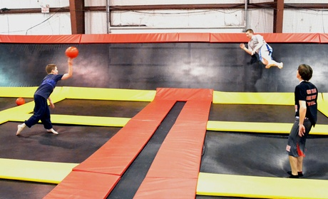 Up to 42% Off Jump Time at Delmar Stratosphere Trampoline...