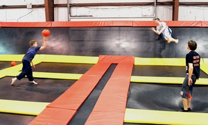 Delmar Stratosphere Trampoline Park: One Hour of Jump Time for Two or Four at Delmar Stratosphere Trampoline Park (Up to 42% Off)