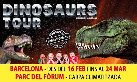 "2 o 5 entradas para adulto o niño a la exposición ""Dinosaurs Tour"" del 16 de febrero al 24 de marzo desde 11,95 €"