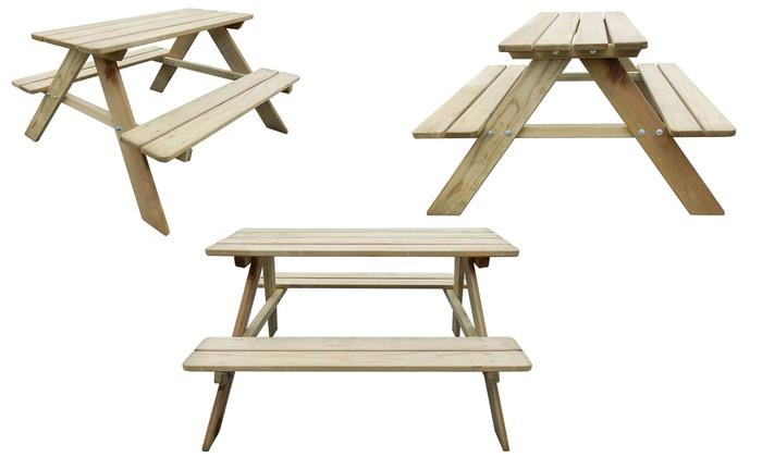 table de pique nique pour enfant groupon. Black Bedroom Furniture Sets. Home Design Ideas