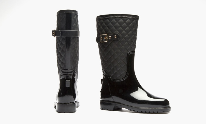 Sociology Katelyn Women's Quilted Rain Boot | Groupon Exclusive (Size 8)