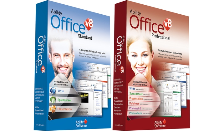 Ability Office Standard or Professional v8