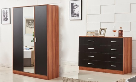 Black/Walnut Bedroom Furniture from £29.99 With Free Delivery