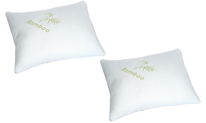bamboo rayon memory foam pillow by remedy 1 or 2pack