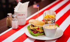 Jack's Restaurant And Cafe: Amerykański zestaw: burger, frytki i surówka za 14,99 zł i więcej opcji w Jack's Restaurant And Cafe