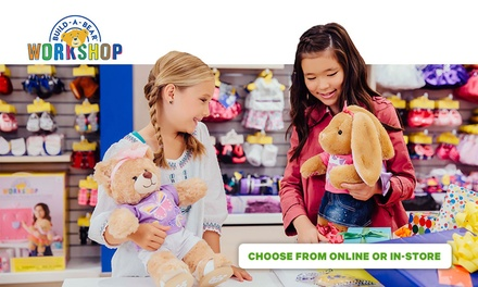 $16.90 to Spend In Store or Online at BuildABear Workshop, Multiple Locations Nationwide
