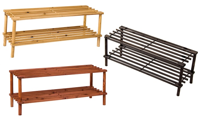 Two-, Three- or Four-Tier Home Vida Shoe Racks from £5.99