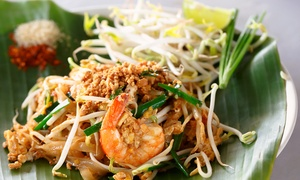 Thai Samai: Thai Two-Course Meal with Glass of Wine or Drink for Two or Four at Thai Samai (Up to 46% Off)