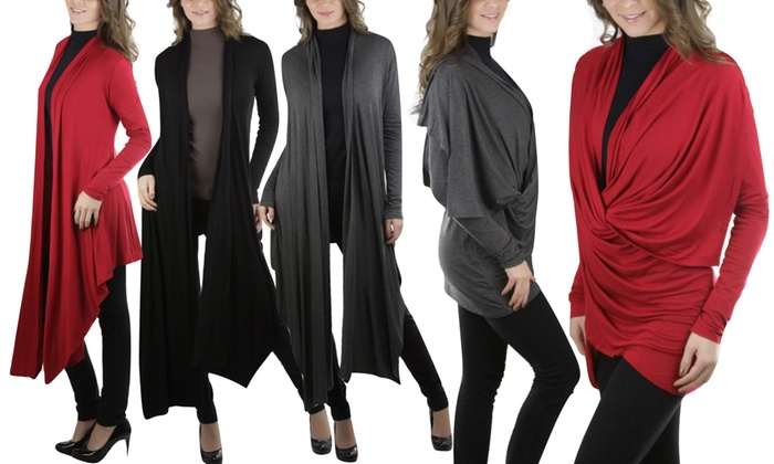 Women's Convertible Wrap Cardigan