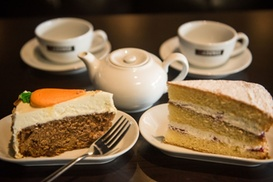 Love 2 Lounge: Coffee of Choice and a Slice of Cake for Two or Four at Love 2 Lounge (Up to 46% Off)
