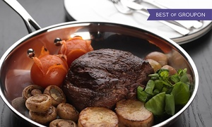 Bo Vine - West End: Sirloin Steak, Half Lobster and a Glass of Sparkling Wine for Two or Four at Bo'Vine (Up to 50% Off)