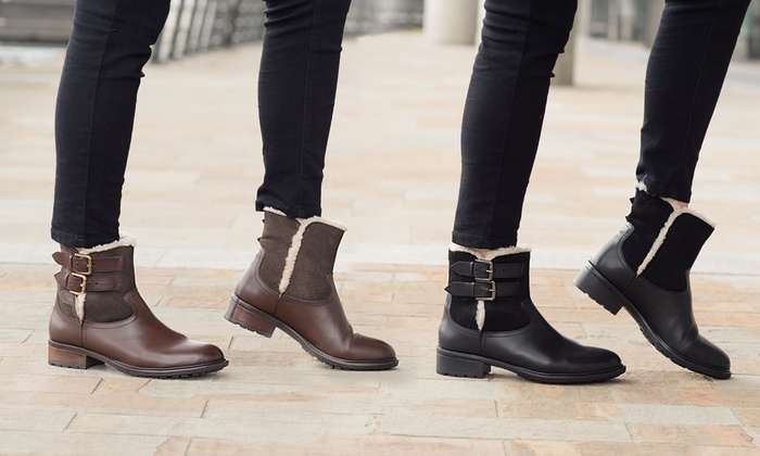 bacde35a563 Up To 75% Off Redfoot Leather Fur Lined Boots | Groupon