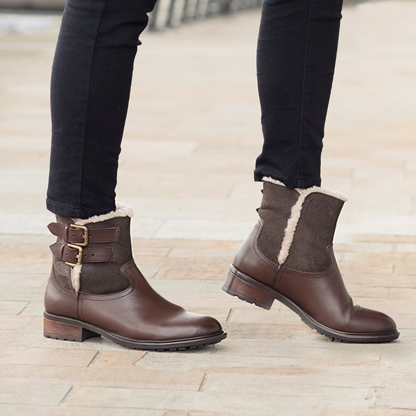 22e78bb50bd Women's Redfoot Leather Suede Fur Lined Boots With Free Delivery