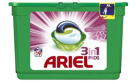 48,96 ou 144 doses Ariel 3en1 Fresh Sensations
